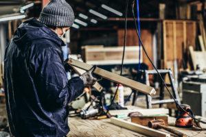 イーグルバレーの木工加工の様子